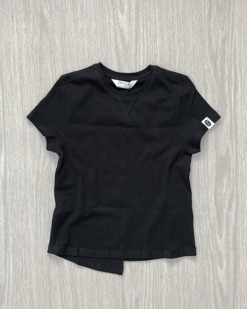 Organic Cotton Tee Black Front kids fashion OKI