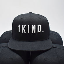 1KIND Signature Snapback Hat, Black