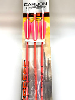 "Thunder Express Pink Fiberglass Arrows 26"" 3pk"