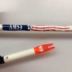 AMS Bowfishing White Fiberglass Arrow Shaft