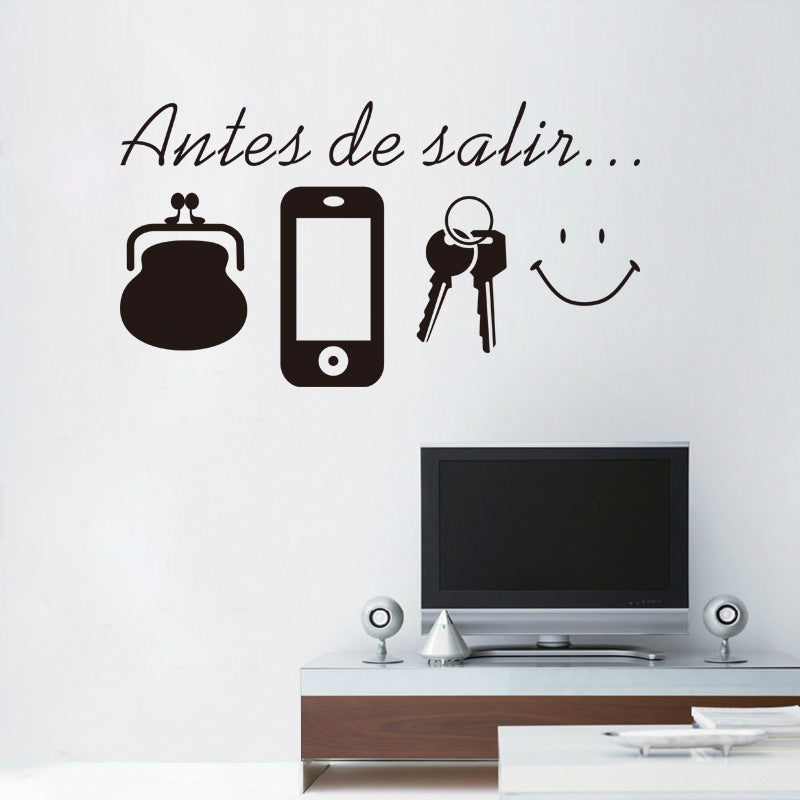 Genial Spanish Before Leaving Reminder Vinyl Quotes Wall Stickers Living Room U2013  Cute Stickers