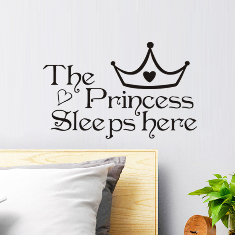 The Princess Sleeps Wall Stickers Living Room Baby Bedroom Art Decor Wall  Decals for Kids
