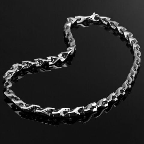 Urban Jewelry Stunning Men's Tungsten 22 Inches Silver Toned Link Chain Necklace