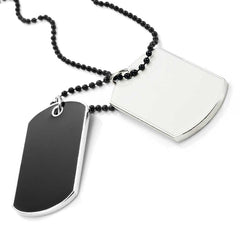 Army Style 2pcs Dog Tag Pendant Mens Necklace Chain (with Branded Gift Box)