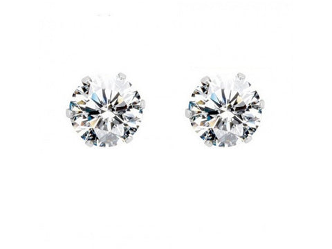 Stunning Stud Earrings Cubic Zirconia Flower for Men and Women
