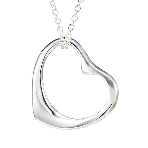 Elegant Open Heart Pendant Necklace Including 19 Inch Chain Stainless Steel (with Branded Gift Box)
