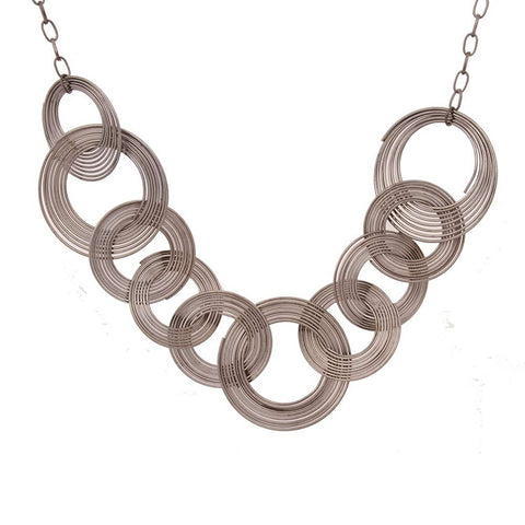 Unique Urban Jewelry Multi Hoops Long Necklace Women Jewelry 33""