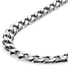 Classic Mens Necklace 316L Stainless Steel Silver Chain Color 18