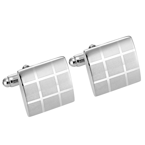 Urban Jewelry Classic Laser Engraved Cufflinks for Men in Gift Box
