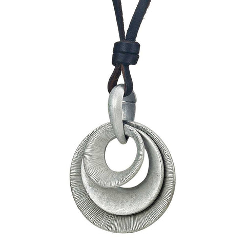 Beautiful Egyptian Pendant Leather Chain (Resizable)