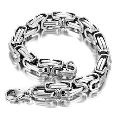 Powerful Men's Bracelet Stainless Steel Silver 8.5 Inch (With Branded Gift Box)