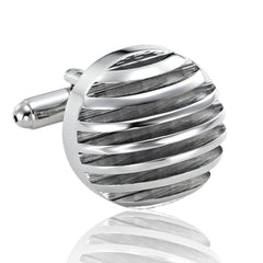 Urban Jewelry Powerful 316L Stainless Steel Silver Half-Sphere Mens Cufflinks Cuff Links