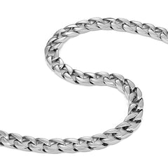 Men's Powerful Stainless Steel Chain Necklace Ultra Thick Wide (Silver,11 mm width, 18,21,23 Inches)