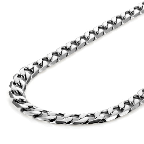 "Classic Mens Necklace 316L Stainless Steel Silver Chain Color 18"",21"",23"", 26"" (6mm)"