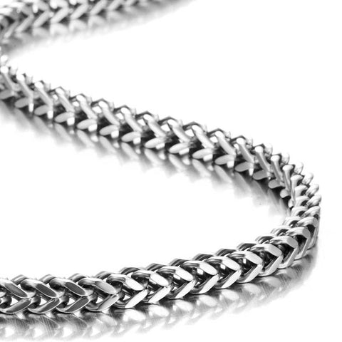Urban Jewelry Stunning Mechanic Style Stainless Steel Silver Men's Necklace Link Chain (18,21,23 Inches)