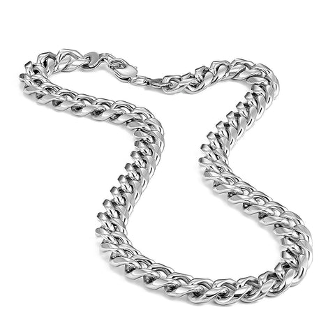 Urban Jewelry Ultra Thick and Wide 316L Stainless Steel Men's Chain Necklace (18,21,23 inches)