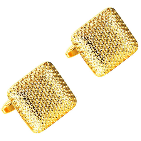Urban Jewelry Beautiful Square Golden 316L Stainless Steel Cufflinks for Men