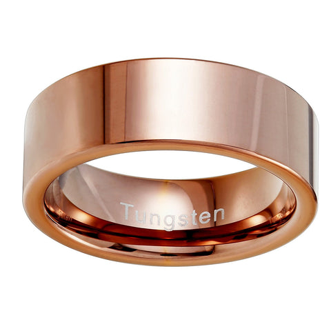 Urban Jewelry Plain Solid Tungsten Metal Bronze Engagement Wedding 8 mm Ring Band for Men