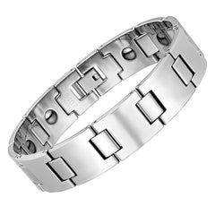 Timeless Men's Bracelet – Track Link Design in a High Polish Silver Color – Made of Strong & Durable Solid Tungsten Material – Jewelry Gift or Accessory for Men