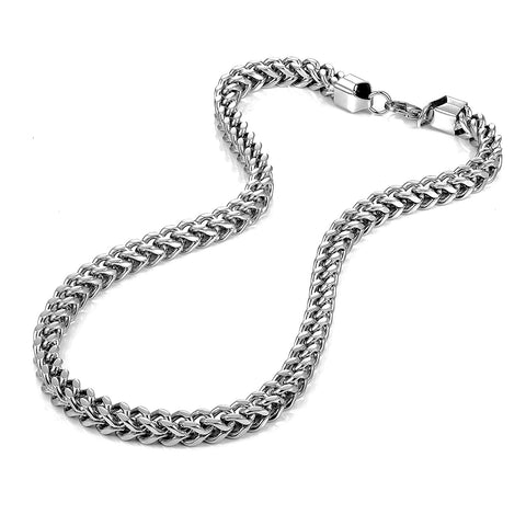 Urban Jewelry Stunning Thick 8 mm Stainless Steel Men's Necklace Chain (Silver)