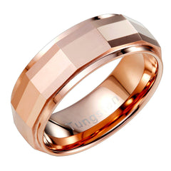 Urban Jewelry Stylish Solid Tungsten Matrix Bronze Metal Ring Wedding Engagement 8 mm Band for Men