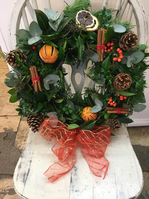 Holly and the Ivy Christmas Door Wreath - Helens Flowers Grantham