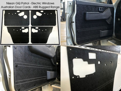 Nissan GQ Patrol Y60 Rugged ABS Door Cards - Electric Window Models - Black