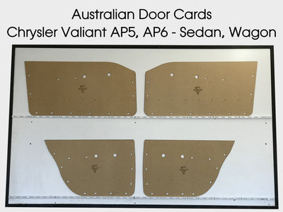 Chrysler Valiant AP5, AP6 Door Cards - Sedan, Wagon