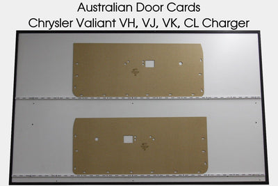 Chrysler Valiant VH, VJ, VK, CL, Charger Front Door Cards - Coupe Trim Panels