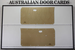 Datsun 120Y Front Door Cards - Coupe, 3 Door Wagon, Van Trim Panels