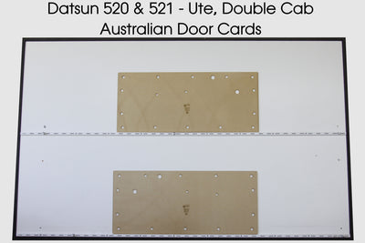 Datsun 520, 521 Front Door Cards - Single and Double Cab Ute Trim Panels