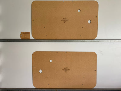 Fiat 500-F 500-L 500-R Door Cards (1965-73) - Quality Masonite Blank Trim Panels