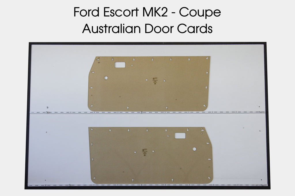 Ford Escort MK2 Door Cards - Coupe - Flat, Modified Original Trim Panels