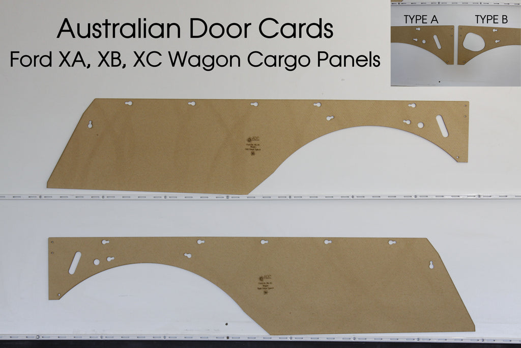 Ford XA, XB, XC Side Cargo Trim Panels - Wagon