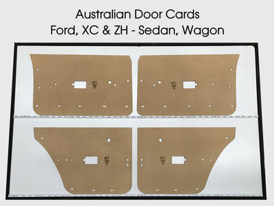 Ford XC, ZH Manual Windows Door Cards -  Sedan, Wagon