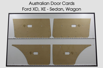 Ford Falcon XD, XE, Manual Window Door Cards - Sedan, Wagon