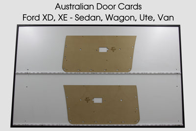 Ford Falcon XD, XE Manual Window Front Door Cards -  Ute, Sedan, Wagon, Van