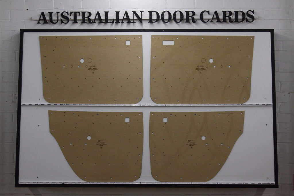 Holden HT Brougham Door Cards - Sedan - Electric Window Models Trim Panels