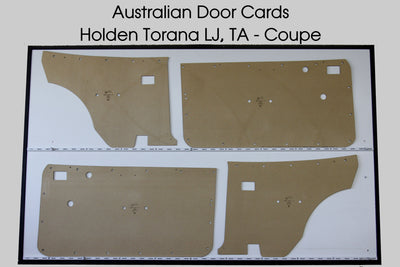 Holden Torana LJ, TA Door Cards - 2 Door Coupe Trim Panels