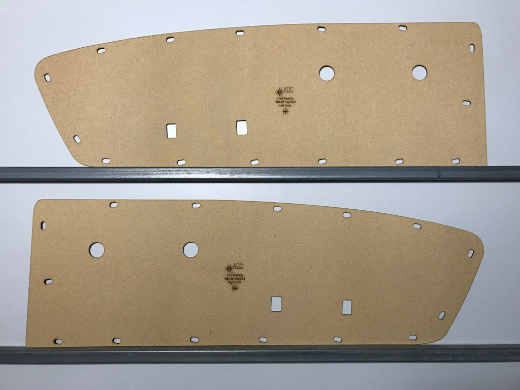 Ford Mustang 1964 - 1966 Standard. Door Cards Blank Trim Panels Quality Masonite