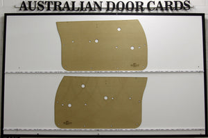 Holden HQ, HJ, HX, HZ, WB Front Door Cards Ute, Sedan, Wagon, Panel Van Trim Panels