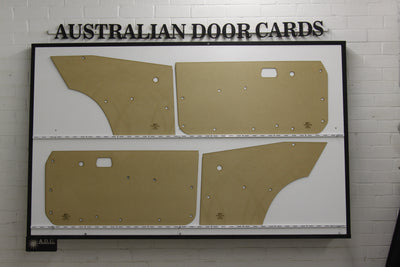 Mazda RX3, 808 Front Door Cards and Rear Kick Panels - Coupe Trim Panels
