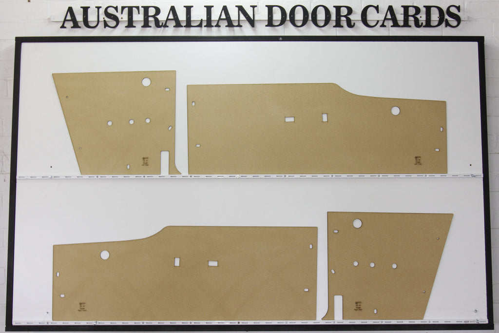 Ford Falcon XM, XP Coupe Door Cards Deluxe Hardtop, Futura Trim Panels