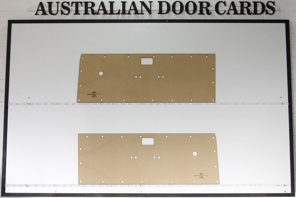 Holden Gemini TD, TE, TF, TG Front Door Cards - Wagon, Panel Van Trim Panels