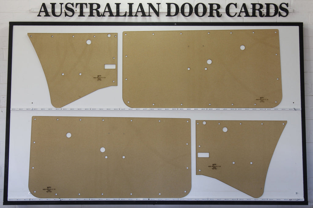 Holden HK, HT, HG GTS Monaro Door Cards - 2 Door Coupe Trim Panels