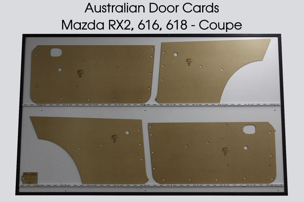 Mazda RX2 616 618 Coupe Door Cards 4. RX-2 Capella Rotary