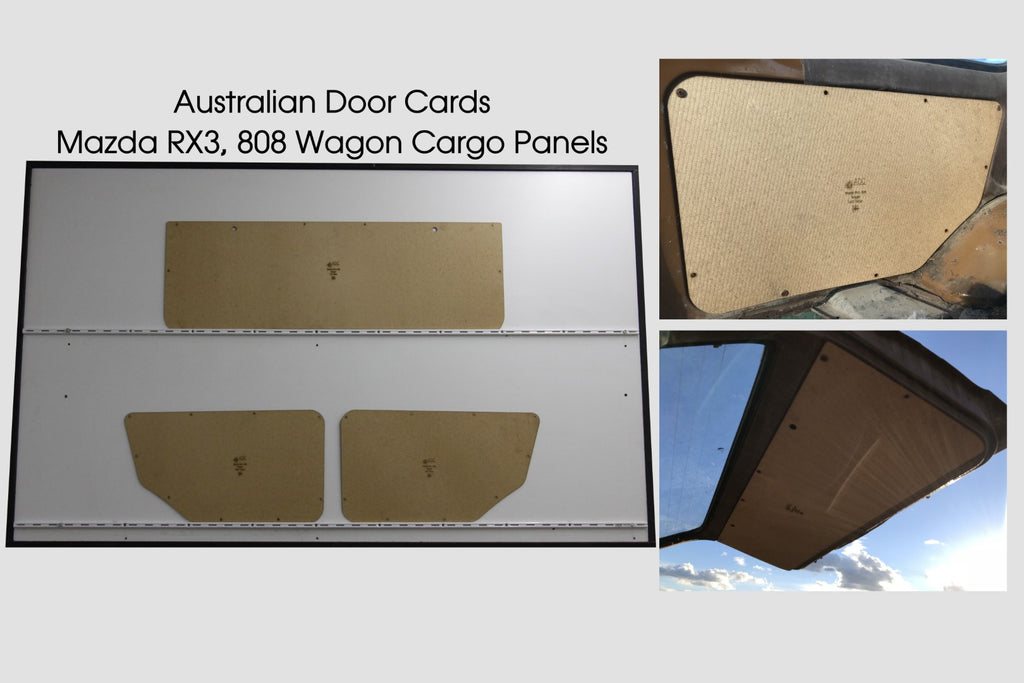 Mazda RX3 808 Wagon Side Cargo Panels & Tailgate.