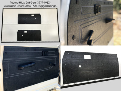 Toyota Hilux 3rd Gen 1978-1983, Ute. Rugged ABS Front Door Cards