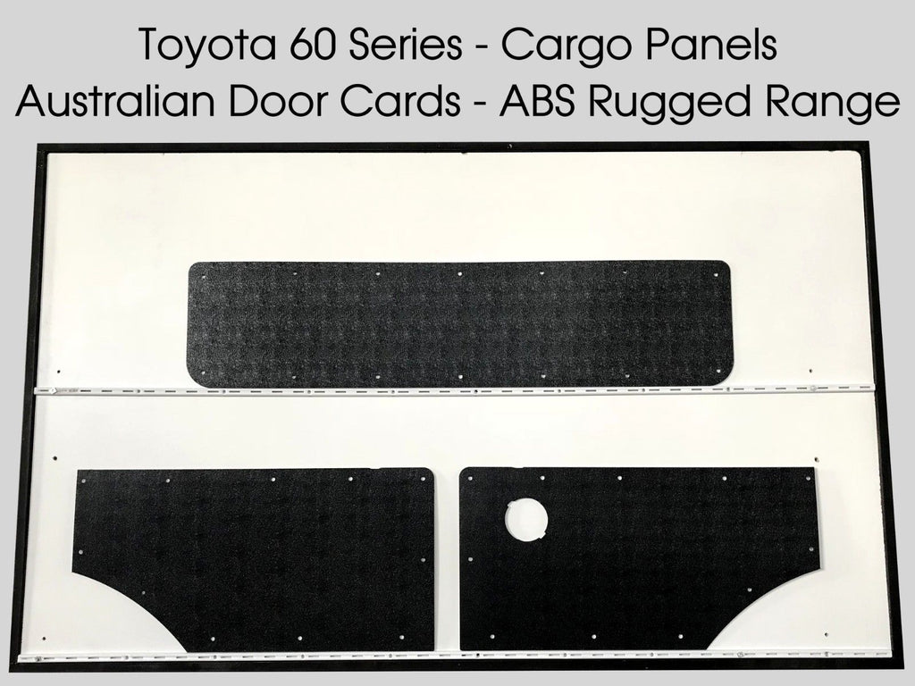 Toyota Landcruiser 60 Series Rugged ABS Cargo Trim Panels - Black