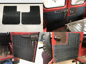 Toyota Landcruiser FJ40, FJ45 ABS Barn Door Panels. 2 Door Short Wheelbase